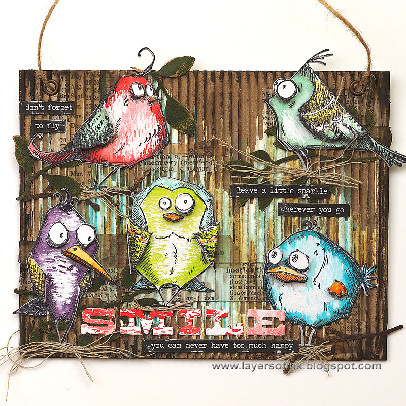 large pic of another crazy bird creation from Sizzix