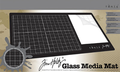 image of the boxed Tim Holtz Glass Media Mat for sale at Art by Jenny