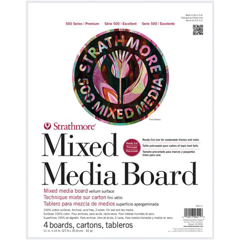 Strathmore - Mixed Media Board - White - Series 500 - 11x14 - 4 Sheets
