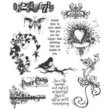 Urban Chic ... set of 11 cling rubber stamps by Tim Holtz