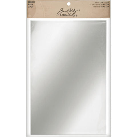 Tim Holtz Idea-Ology Surfaces - Adhesive Mirrored Sheets - 2 Pack