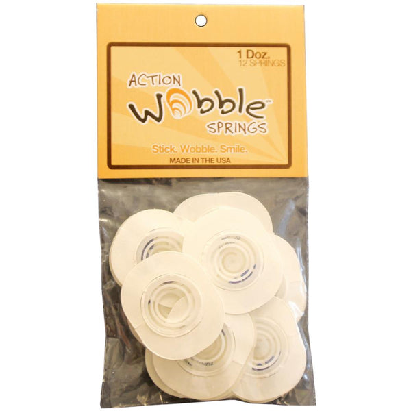 Action Wobbles Adhesive Springs - Large - 12 Pieces