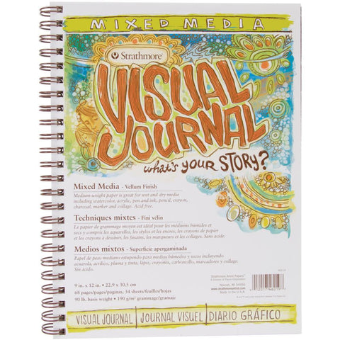 Strathmore Visual Art Journal - Mixed Media 9x12 - 190gsm