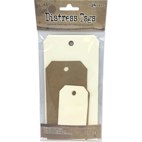 Tim Holtz Distress Tag Assortment 18/Pkg 3 Each Of #2, #5 & #8
