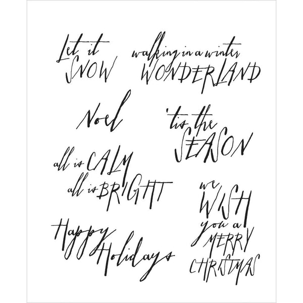 Tim Holtz Christmas Holiday word and phrase stamps