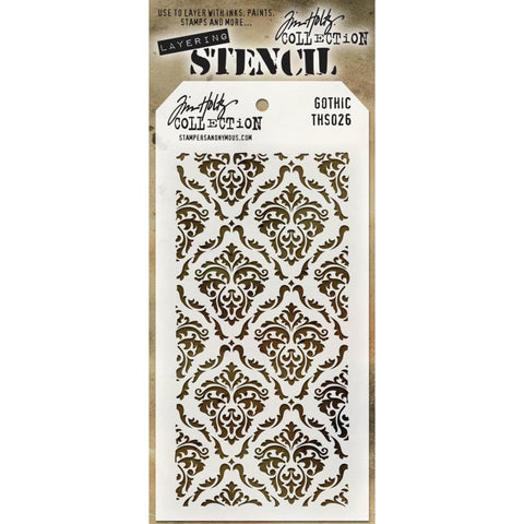 Gothic Tim Holtz Layering Art Stencil for Mixed Media