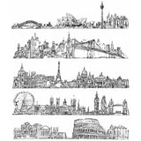 Sydney Australia, New York USA, Paris France, London UK, Rome Italy - 5 cityscapes by Tim Holtz