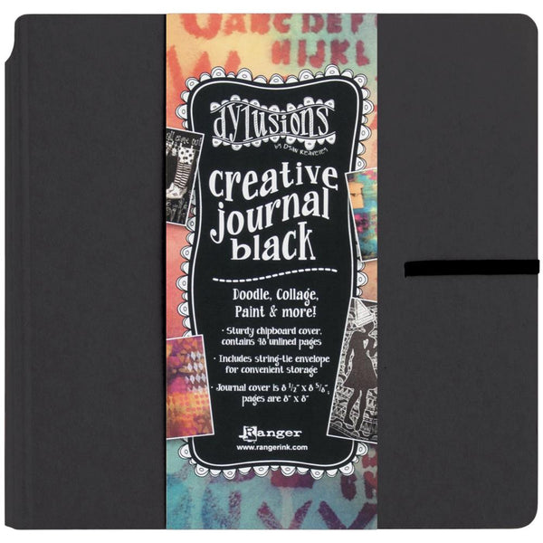 Dylusions Creative Art Journal - Square 8x8 - Black Heavyweight Card