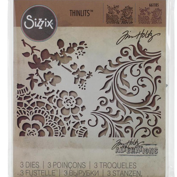 Tim Holtz Thinlits - Die Cutting Set by Sizzix - Mixed Media no2 - Lace Blossom Flourish