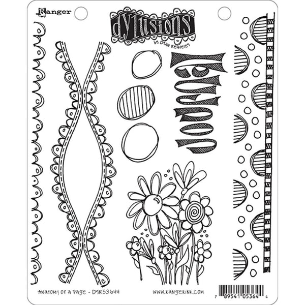 Dylusions Cling Rubber Stamps - Anatomy of a Page