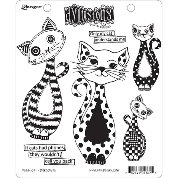 Dylusions Cling Rubber Stamps - Puddy Cat