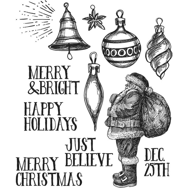 Tim Holtz Cling Stamps - Festive Sketch