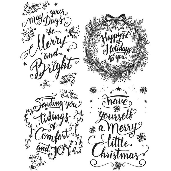 Tim Holtz Cling Stamps - Doodle Greetings set 1