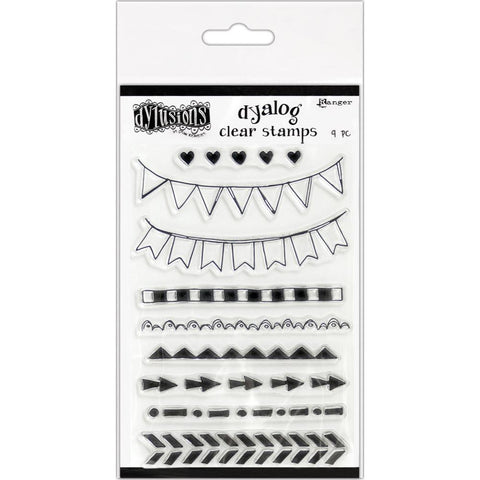 On The Edge - Dyalog Clear Planner Stamps ... by Dyan Reaveley of Dylusions