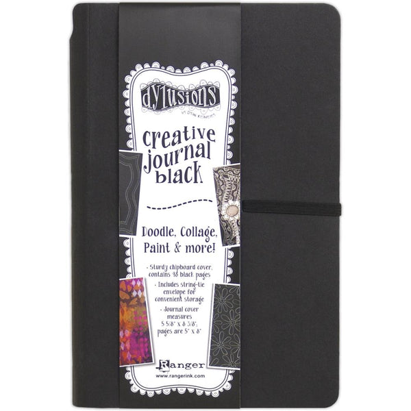 Dylusions Creative Art Journal - Small 5x8 - Black Paper