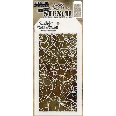 Doodle ... this Tim Holtz layering stencil features a hand-drawn scribbly pattern
