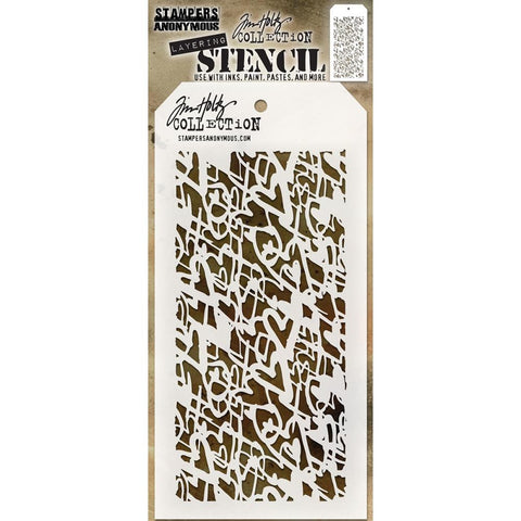 Heartstruck ... this Tim Holtz layering stencil features hundreds of hand drawn hearts in lines of different thicknesses