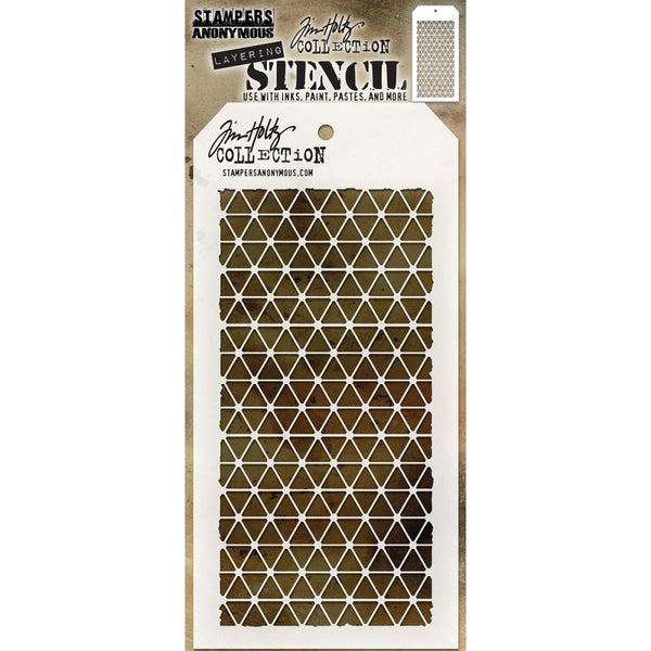 Diamonds ... this Tim Holtz layering stencil features a uniform pattern of triangular shaped diamonds
