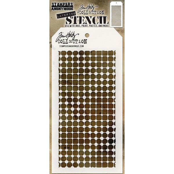 Tim Holtz Layering Stencil - Grid Dot