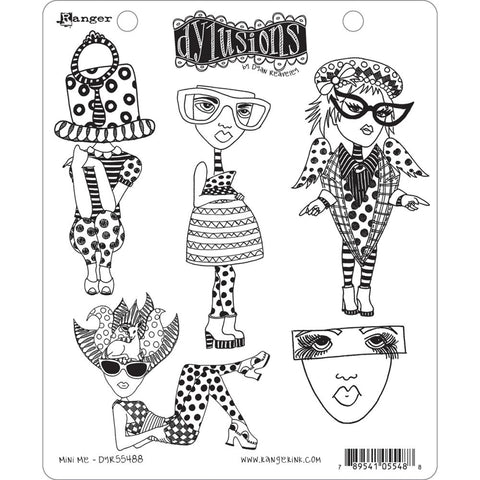Dylusions by Dyan Reaveley Cling Rubber Stamps - Mini Me