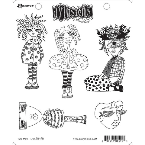 Dylusions by Dyan Reaveley Cling Rubber Stamps - Mini Moo