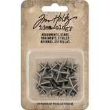 Tim Holtz Idea-Ology - Metal Adornments - Stars - 27 Pieces