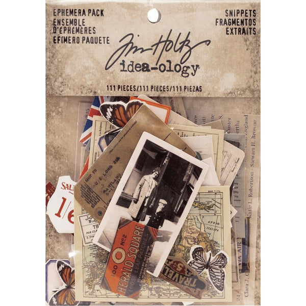 Tim Holtz Idea-Ology Ephermera ... Snippets - Teeny Tiny Die Cuts for Art