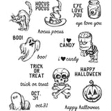 Scared Silly - a set of 8 picture stamps, 14 word stamps for Halloween