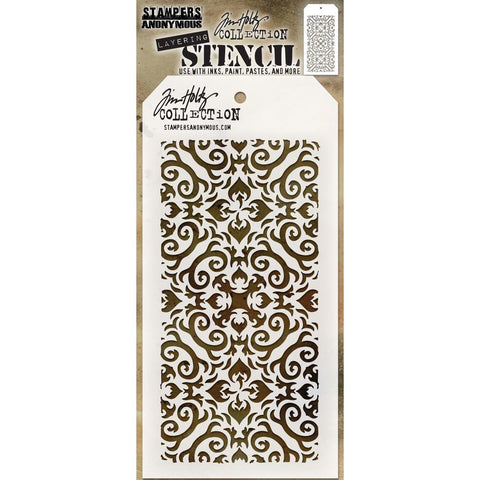 Flames layering stencil by Tim Holtz