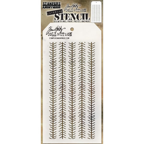 Tim Holtz stencil for arts and crafts - tinsel