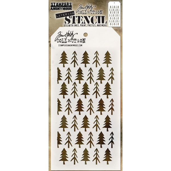 Tim Holtz layering stencils for arts and crafts - Pines