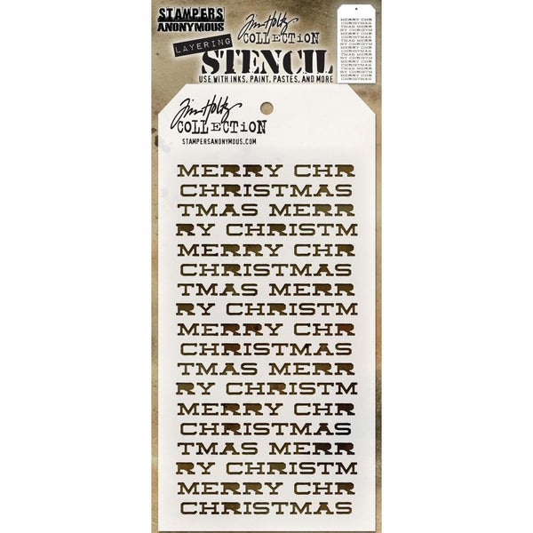 Tim Holtz stencils for art and craft - Merry Christmas