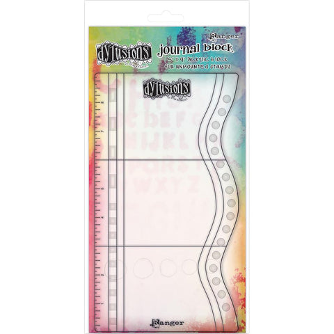 Acrylic Stamping and Art Journal Block by Dylusions with Markings