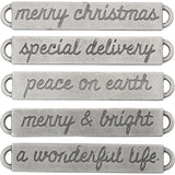 Tim Holtz IdeaOlogy - Metal Word Bands - Christmas