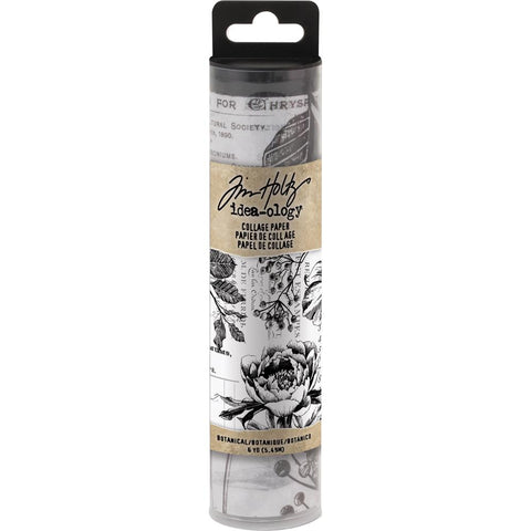Tim Holtz Idea-Ology Collage Paper - Botanical - 6yd Roll - NEW!