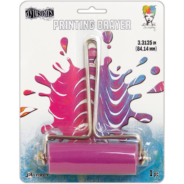 Dylusions Ranger - Pink Rubber Brayer - Medium Roller