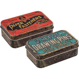 Tim Holtz Idea-Ology - Trinket Tins - 2 Metal Storage Boxes