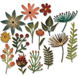 samples of Tim Holtz Thinlits - Die Cutting Set by Sizzix - Funky Florals 3
