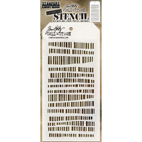 Tim Holtz Layering Stencil - Code - rows of dashes