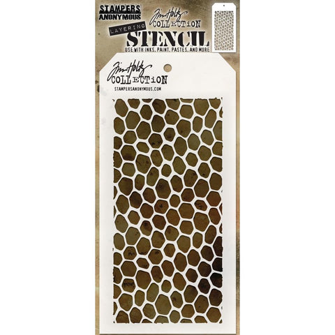 Tim Holtz Layering Stencil for arts and crafts - Hive Hexagon Design