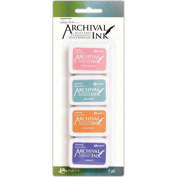 Wendy Vecchi Ink Pads for Stamping and Art, Kit 3 with 4 colours