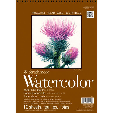 Watercolor Art Paper by Strathmore with Wire Binding