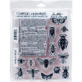 Entomology ... 15 unique stamps for arts and crafts by Tim Holtz (cms328)