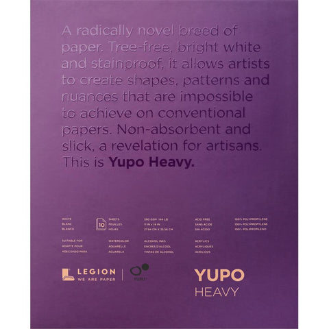 Yupo Paper Pad - Heavy White 11x14 - 10 Sheets