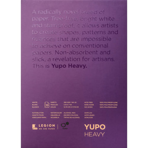 Yupo Heavy-weight White Paper Pad ... 144lbs, 390gsm