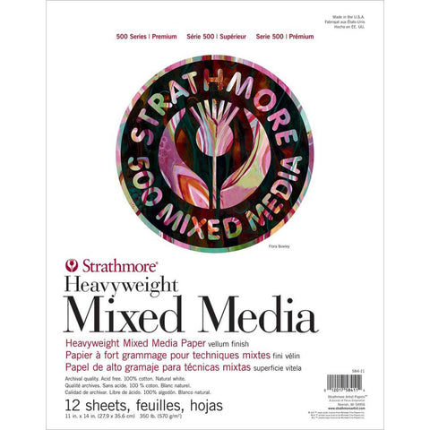 Strathmore Paper - Heavyweight Mixed Media - Series 500 - 11x14