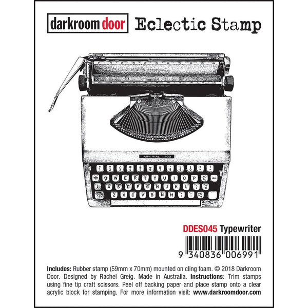 cling rubber stamp for arts and crafts by Darkroom Door, Typewriter
