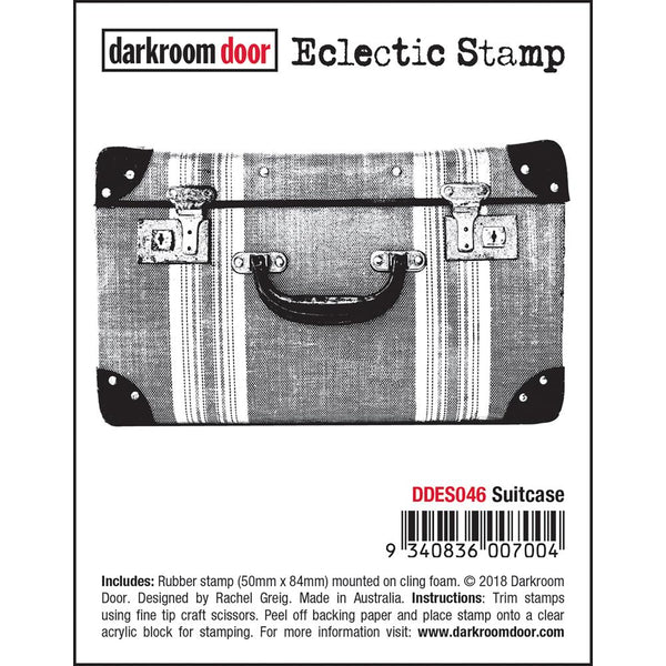 Suitcase Eclectic Art Stamp by Darkroom Door