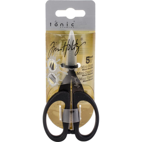 Non-Stick Mini Snips Scissors by Tim Holtz ... Black Kushgrip Handles