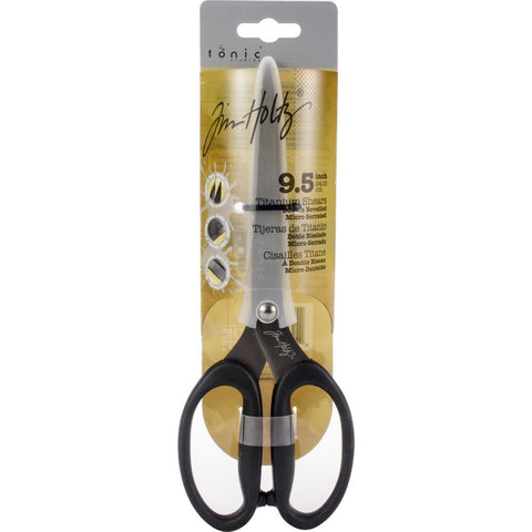 black handled Tim Holtz Non-Stick Titanium Shears - Large Scissors
